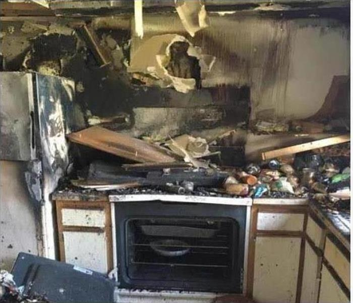 Fire Damage – North Hills Kitchen Before