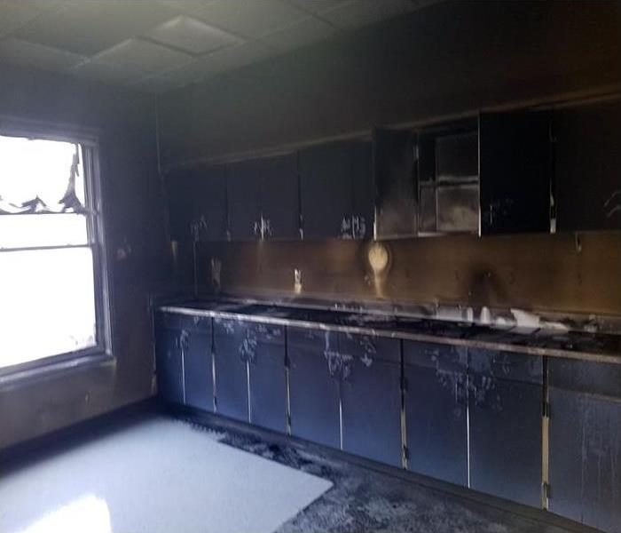 Commercial Fire Damage Restoration In Raleigh Before
