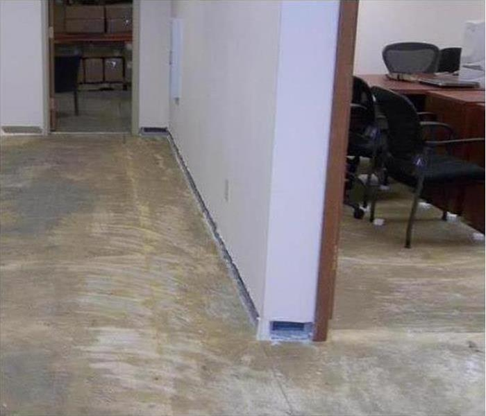 Commercial Water Damage – Raleigh Office After