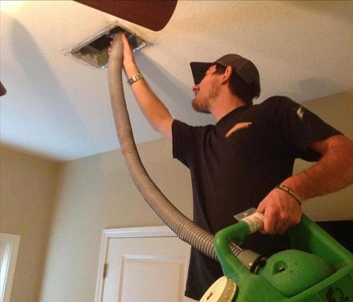 SERVPRO technician at work.